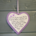 Heart Baby Plaque