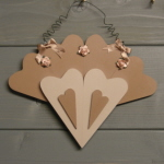 8Heart Fan Plaque