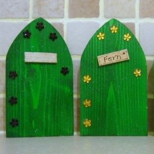 Fairy Elf Door Green