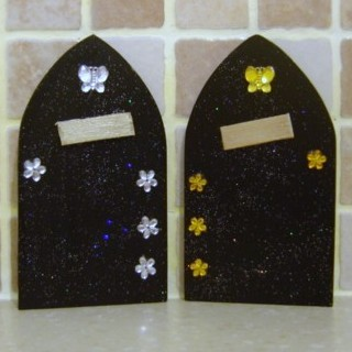Gothic Fairy Elf Door Black