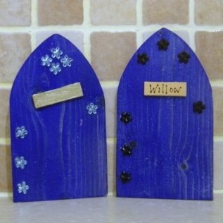 Fairy Elf Door Blue