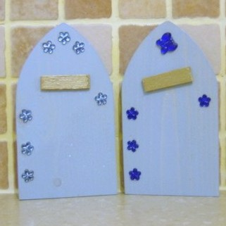 Fairy Elf Door Baby Blue