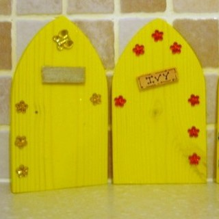 Fairy Elf Door Yellow