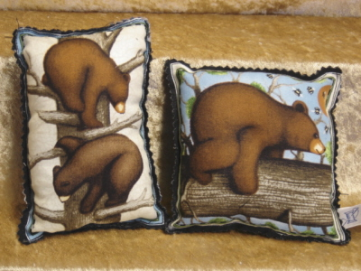 Lavender Bear Pillow