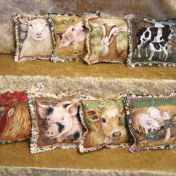 Farm Animals Pillow